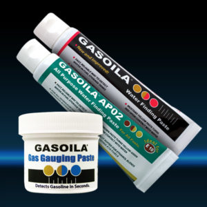 Gasoila Gauging Pastes including: Gasoila Gas Gauging Paste, Gasoila AP02 and Gasoila Water Finding Paste