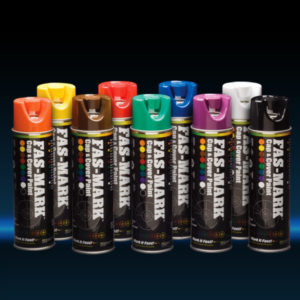 Fas-Mark Cap & Cover Paint cans in a variety of colors
